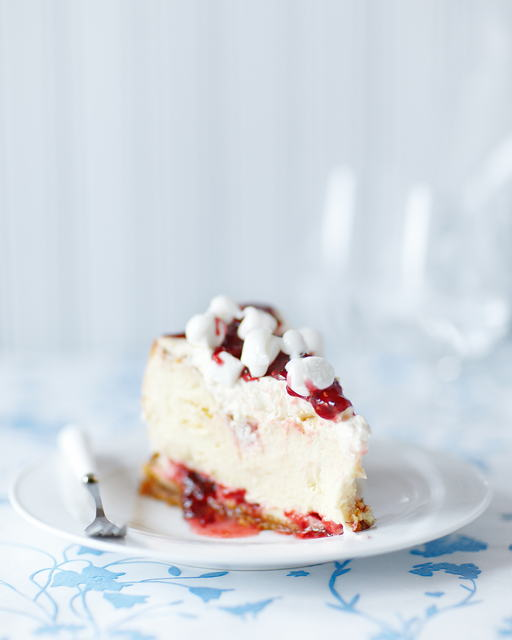 Spring Decadence in a Raspberry White Chocolate Cheesecake